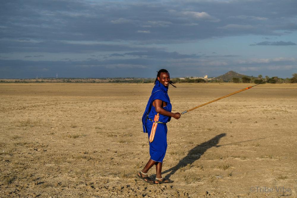 Nelly, our super fun Masai guide
