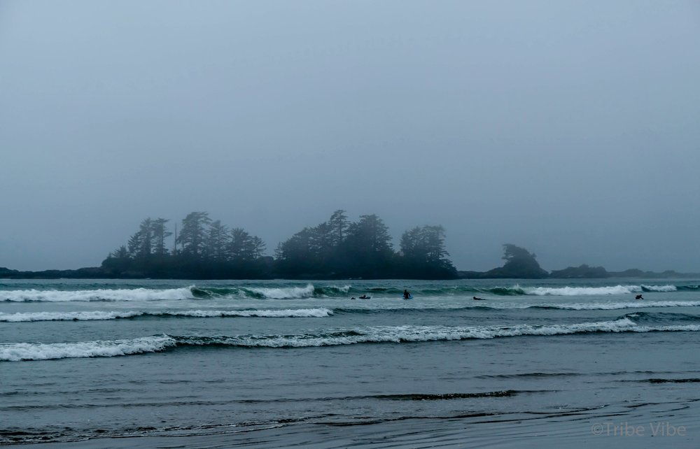 Fog rolling in and out at Chesterman Beach, Tofino