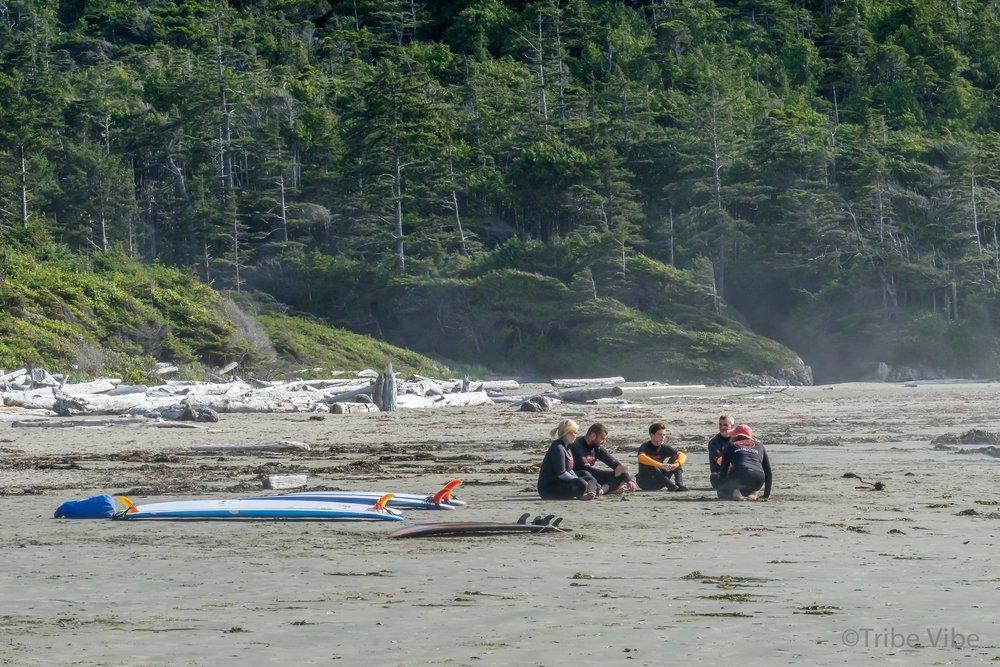 Beautiful surroundings for surf school in Tofino, British Columbia