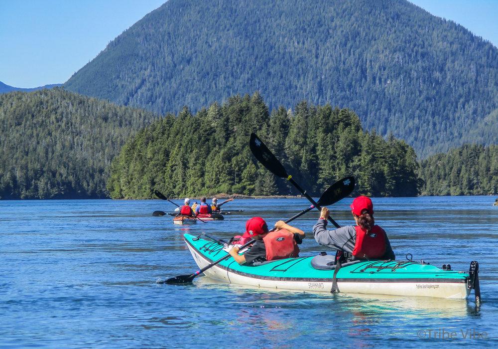 Kayaking to Meares Island