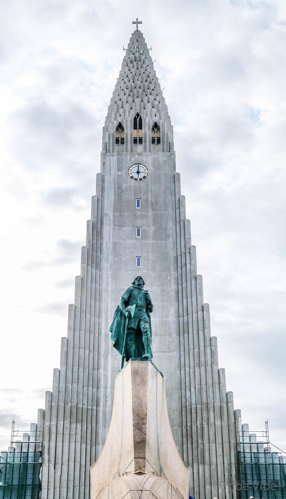 Hallgrimskirkja Luthern Church in Reykjavik