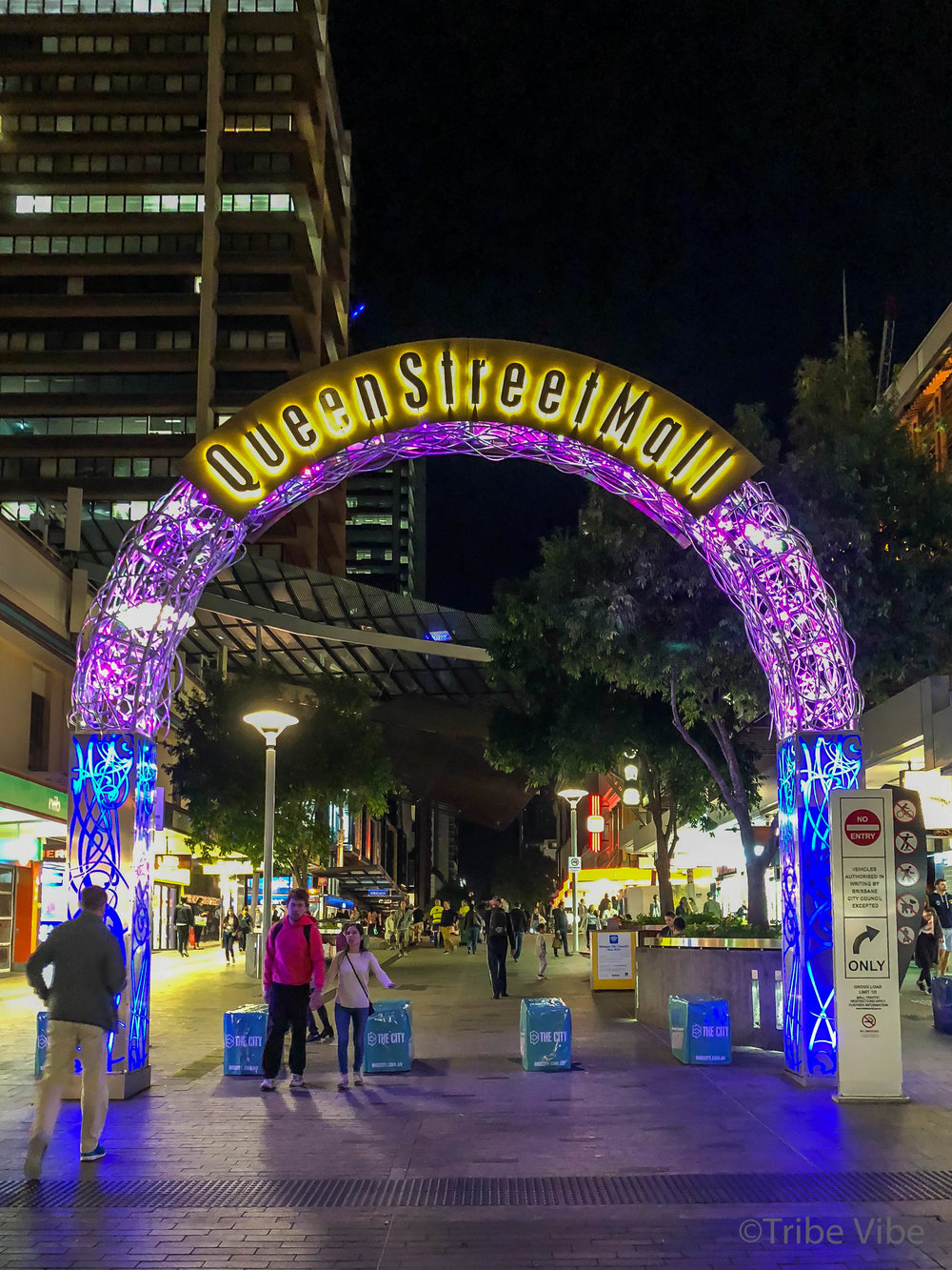 Queen Street Mall in Brisbane, Australia.