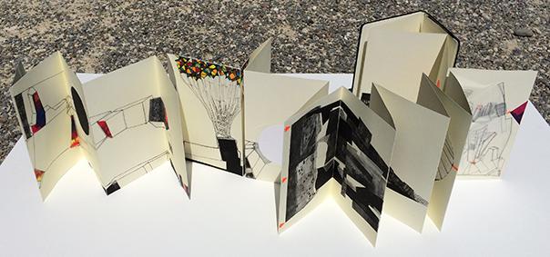 /// Origines  / artist's book - leporello moleskine / single copy / 2014