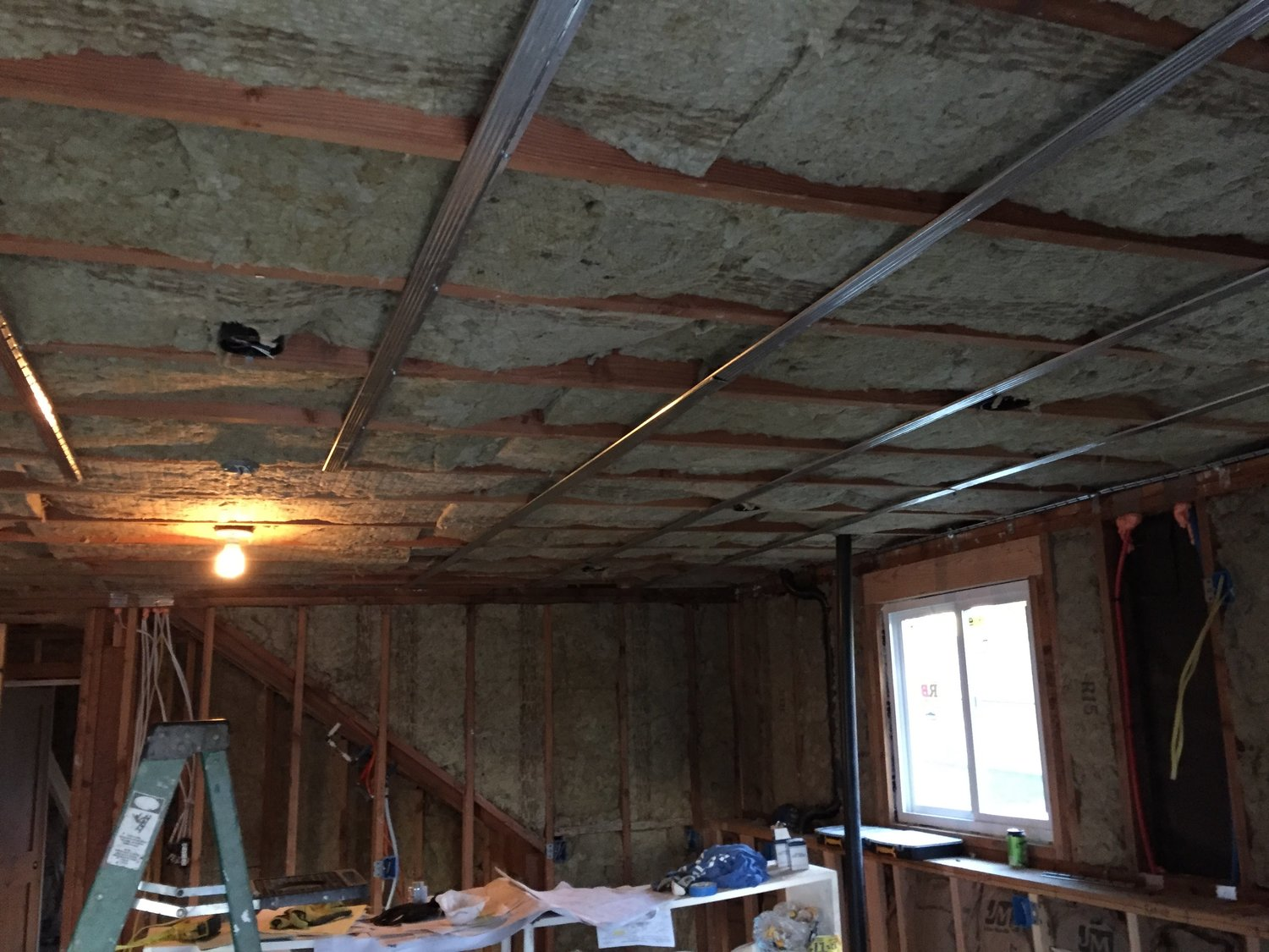 Insulation and Acoustic Resilient Channel — Building an ADU