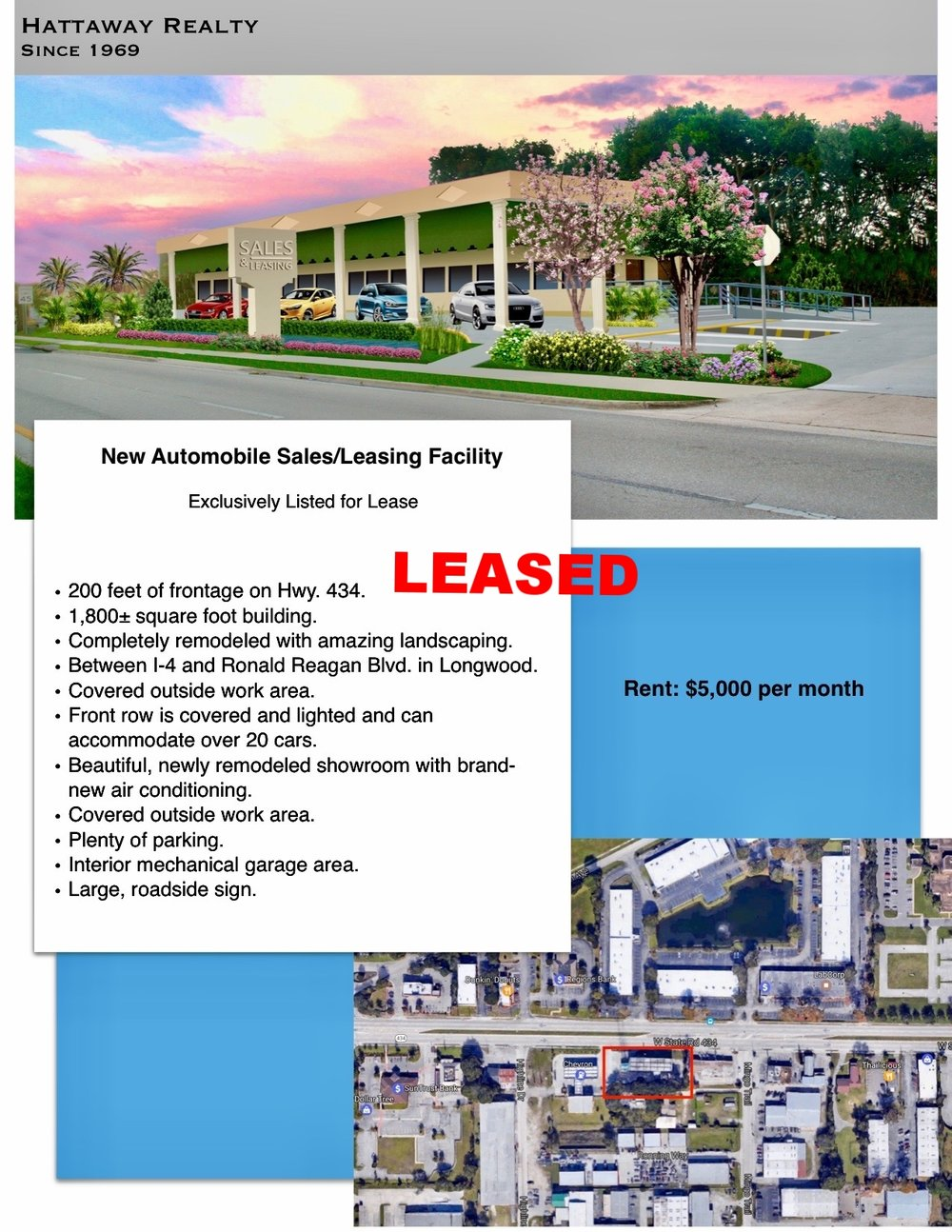 LEASED within one month of listing.