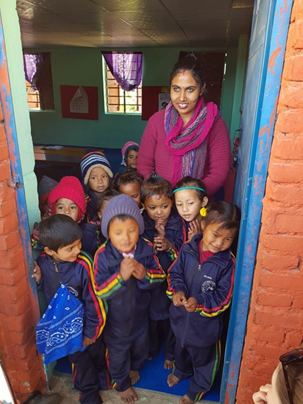 School in the village of Sudal