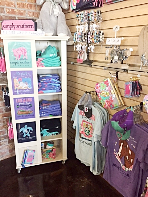 Simply Southern T-shirt display