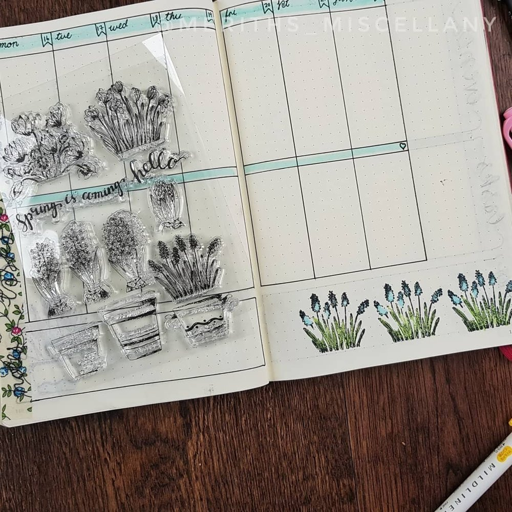 Creative Uses for Stamps Bullet Journal Layouts