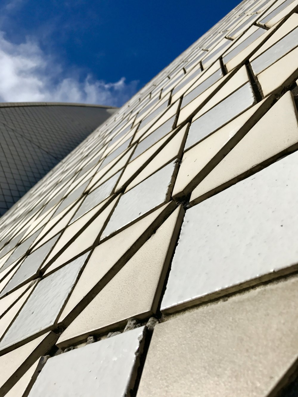 Up-close with the Sydney Opera House tiles