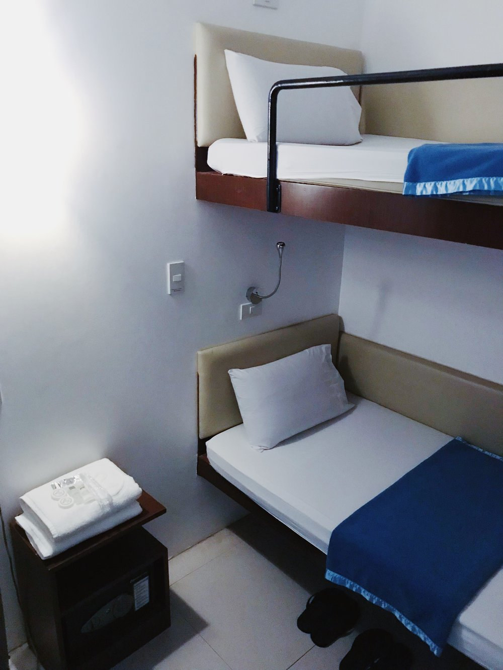 While bunk beds are provided, an add-on bed can be requested for groups of three.