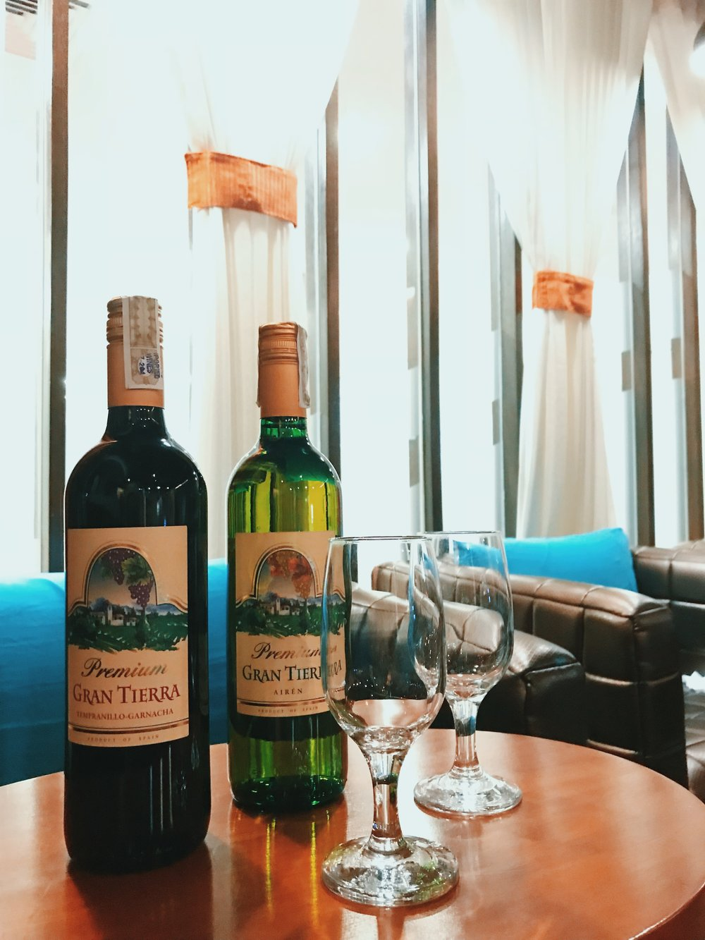 Unlimited wine is available to selected guests