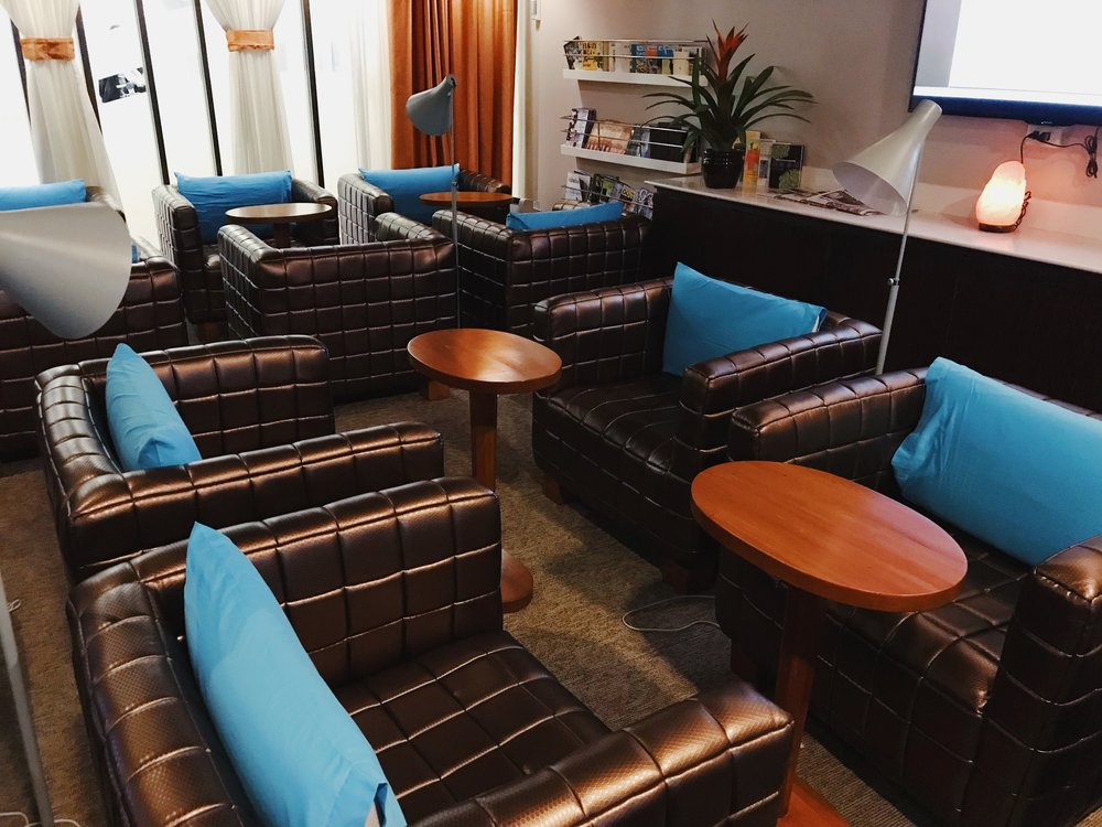 The intimate set-up of the Corporate Lounge