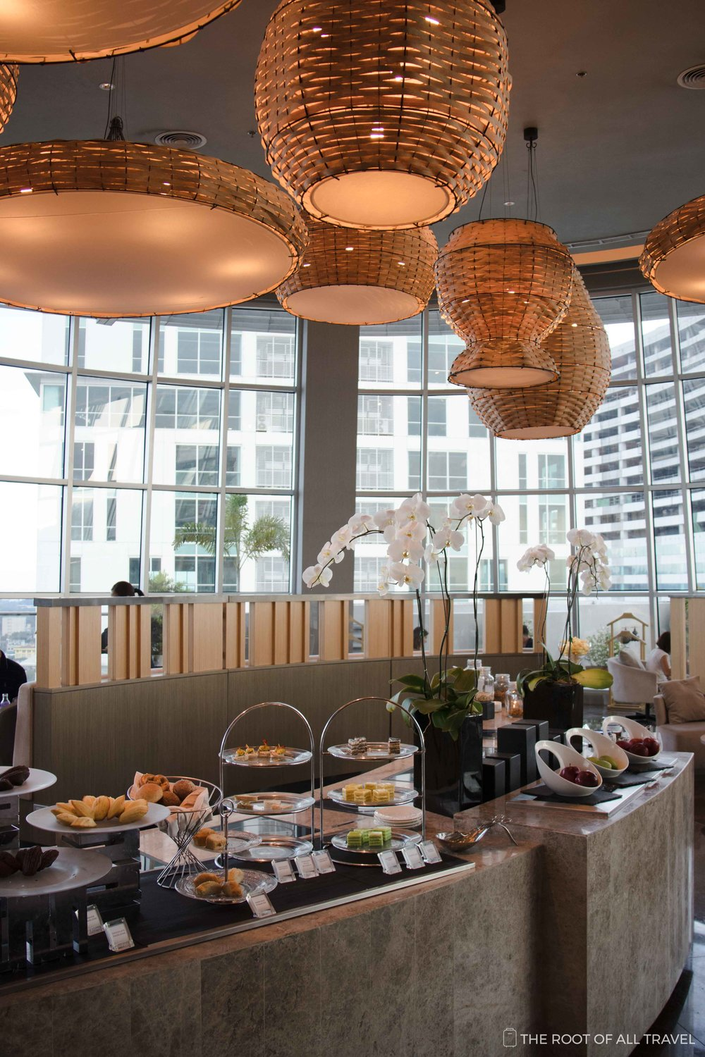 Afternoon tea spread at the Premier Lounge