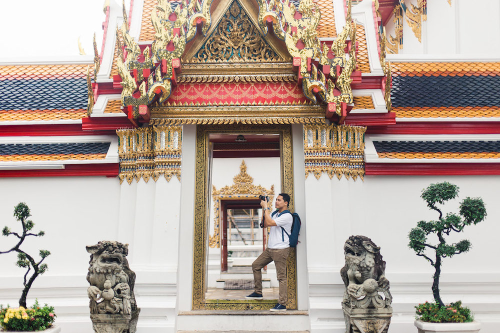 My photographer knows the best spots around the temples as he comes here often.