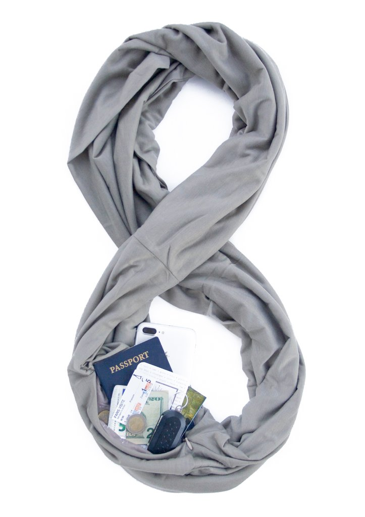 Infinity scarf - This type of traveler believes that fashion should also be functional. So why not give them this infinity scarf with a hidden pocket? Perfect to discreetly take their passports and other small important items while exploring a new city but still keeping their sense of style.