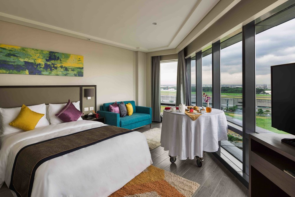 See the action from your hotel room (Photo courtesy of Savoy Hotel Manila)