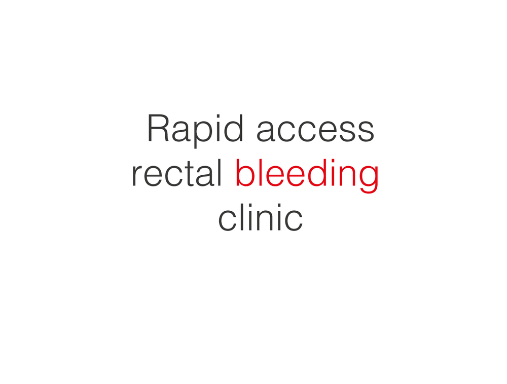 If you are bleeding, you need to be seen by a doctor. We will see you within two days.