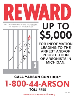 Reward Michigan Arson sign.jpg