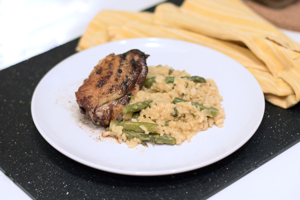 balsamic braised chicken and risotto