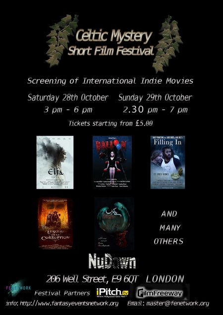The 2017 Celtic Mystery Short Movie Festival will screen short films from around the world with a theme on Celtic, fantasy, horror or paranormal tales, welcoming a wide variety of memorable stories, accepting features from shorts to documentaries and animated works, offering an unforgettable opportunity for networking, celebrating, contemplating, and creating the future of storytelling.