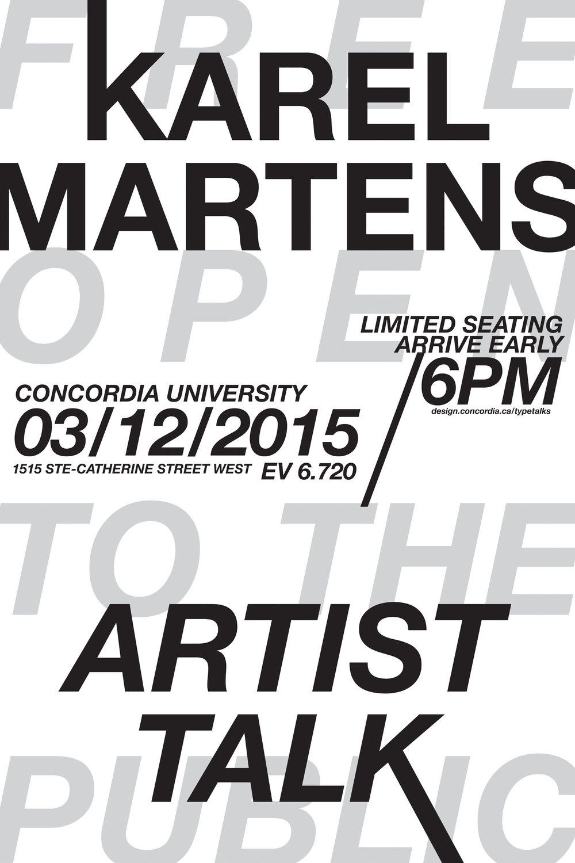 Karel Martens poster iterations