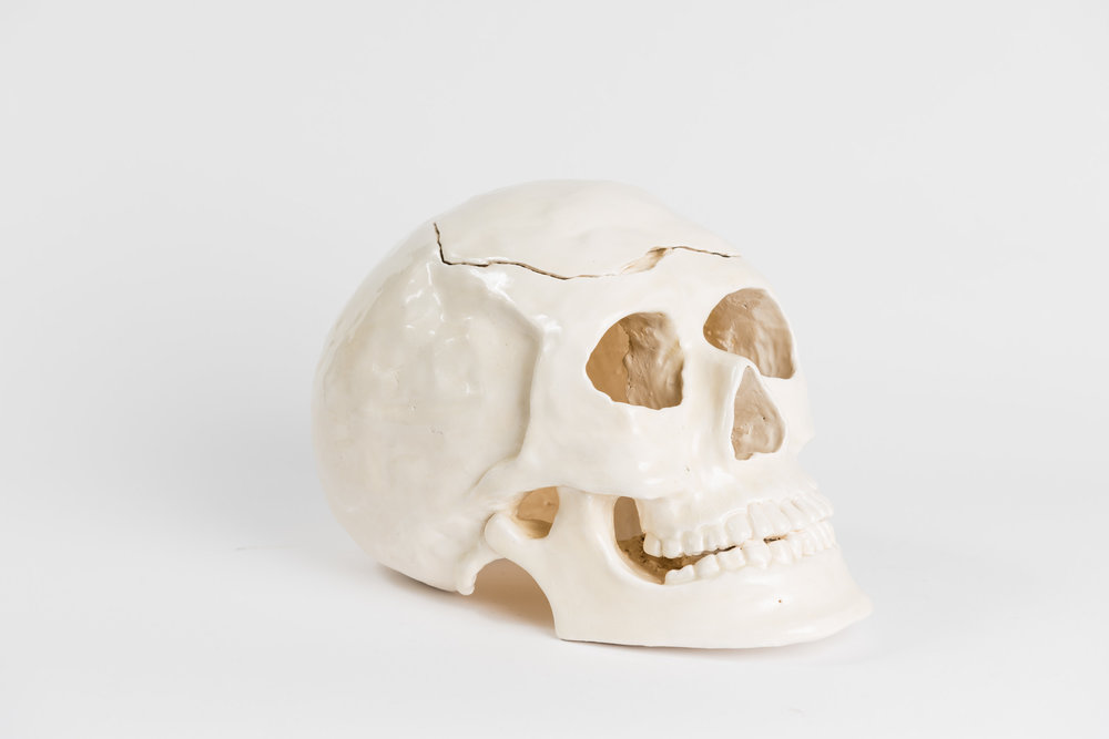 Ceramics     Hand-built ceramic skull