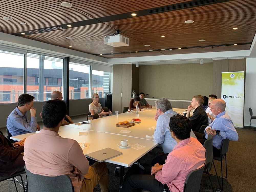 Round table discussion with Viki Forrest at Deakin University.