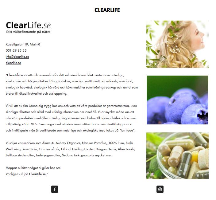 clearlife ekotipset