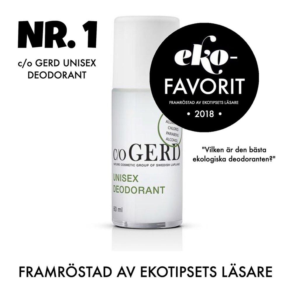 bästa ekologiska deodoranten c/o Gerd unisex deodorant