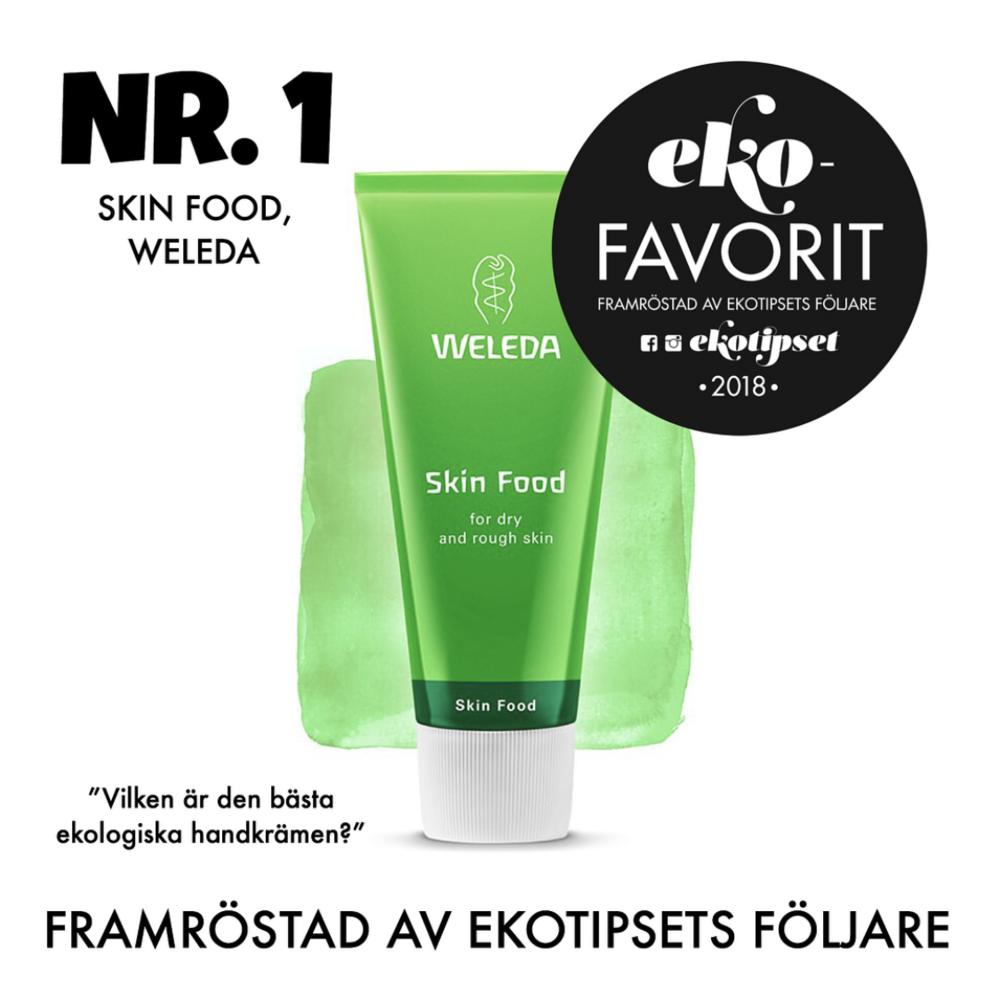 bästa ekologiska handkrämen weleda skin food