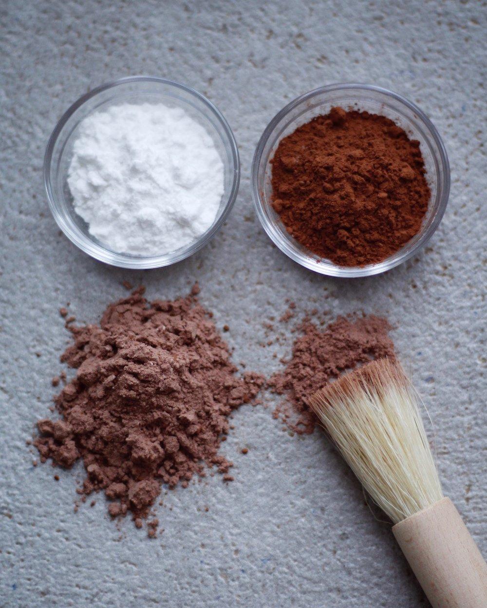 ekologisk torrschampo potatismjöl kakao