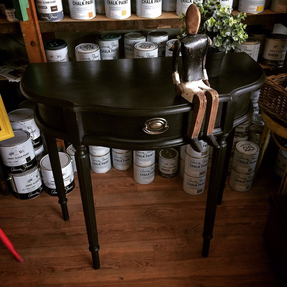 Hall table in Graphite with Black wax £95