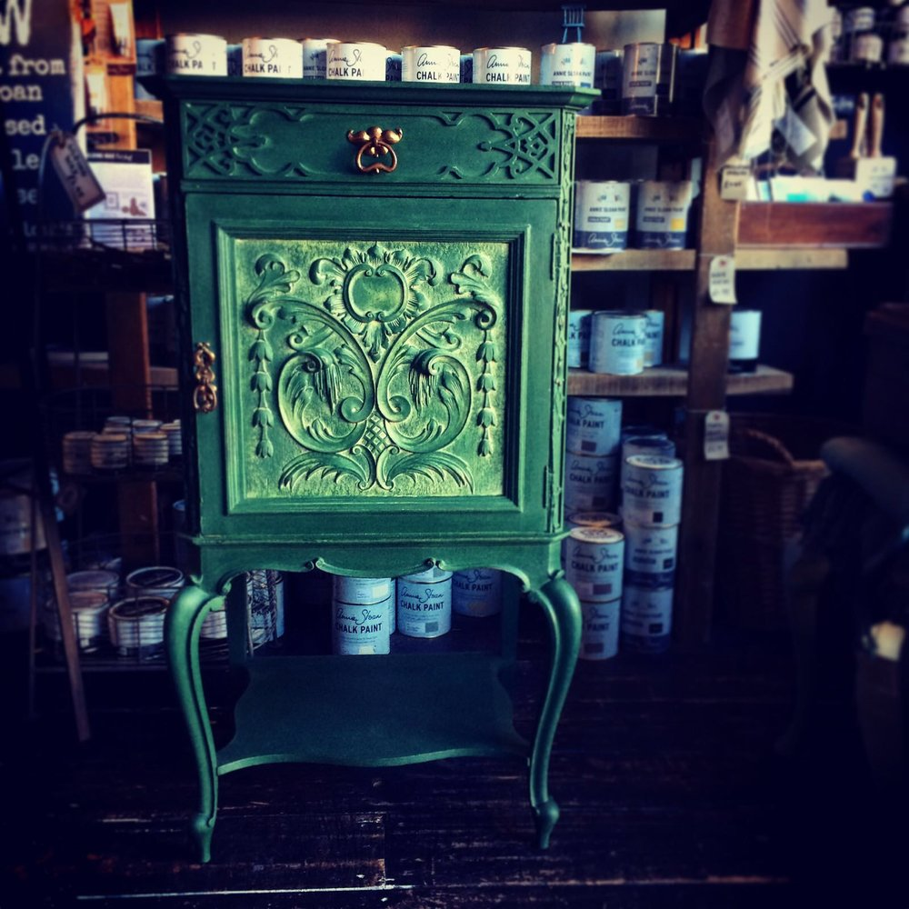 Edwardian music cabinet in Amsterdam Green £225