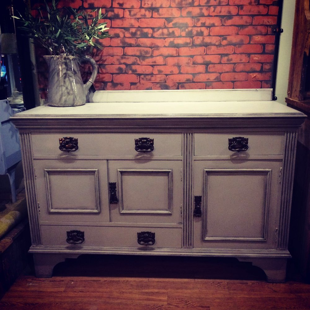 Large Edwardian sideboard in Paris Grey £595