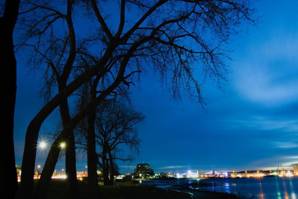 New Haven Harbor at Dawn