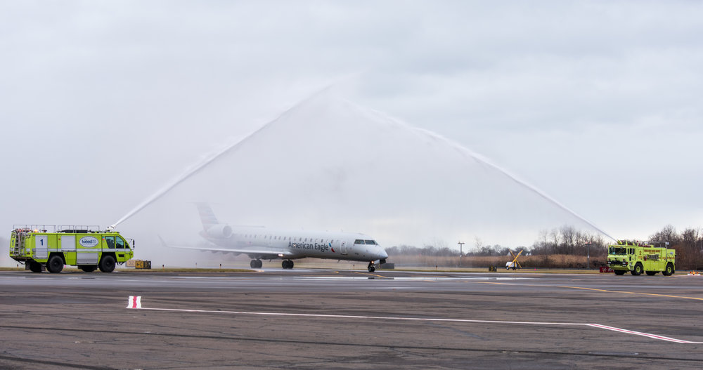 Inaugural CLT flight 12-22-18 water spray 2.jpg