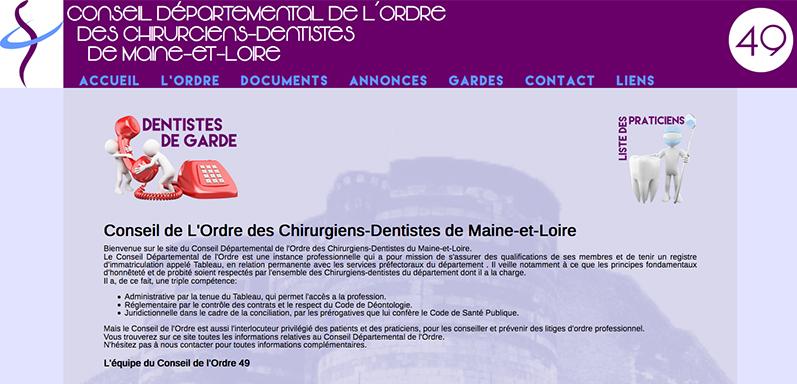 Conseil départemental de l'ordre des Chirurgiens Dentistes 49 - http://cdocd49.com
