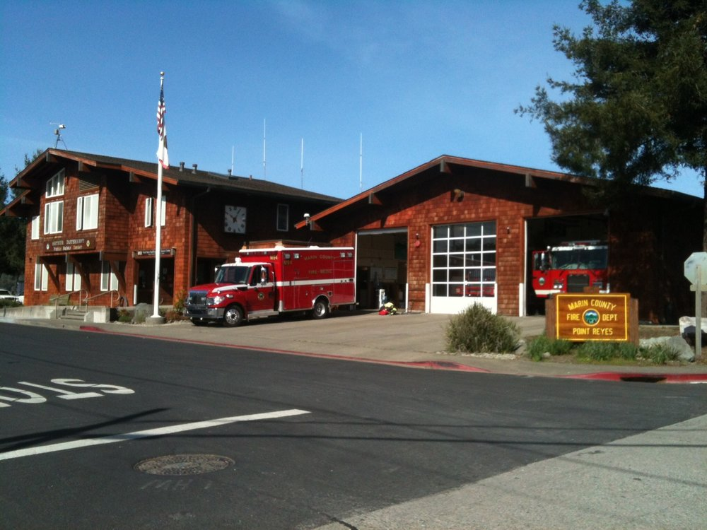 Marin County Fire Dept., Point Reyes Station firehouse.