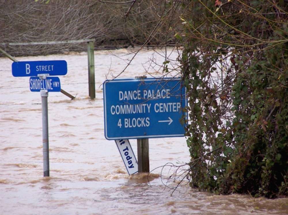 New Year's Day Flooding, 2006. Are you prepared? Photo ©Dave Mitchell 2006