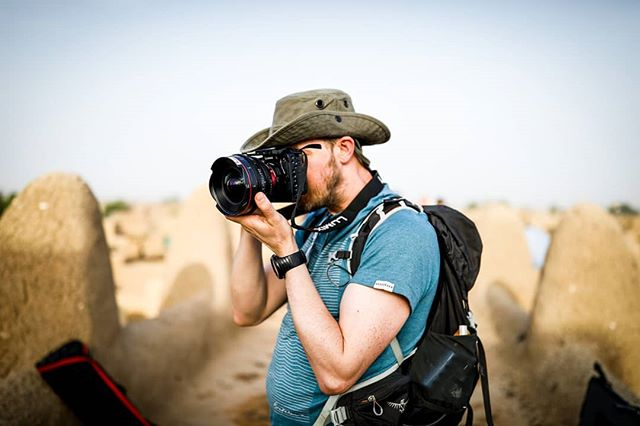 The man, the myth, the legend. @struankane pictured in Mali rocking the GH5 and Canon Cine prime glass. Nice combo. . . . #adventure #explore #travel #filmmakersworld #documentary #doc #directorofphotography #canonuk #canon #smallhd #gear #dop #paramo #paramokit #canon5dmiv #gh5 #panasonic #Crew #team #bbc1 #bbcstudios #esw