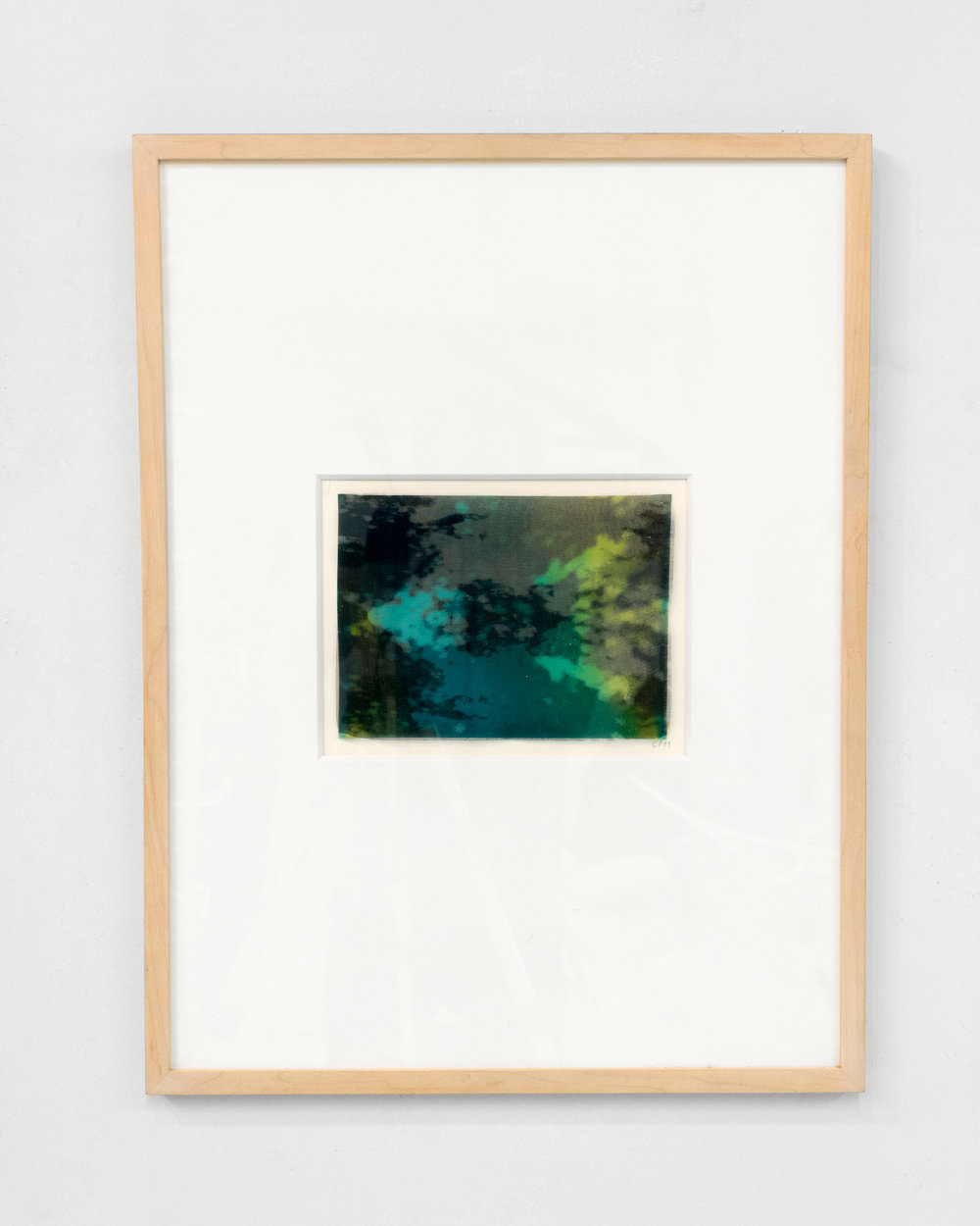 Carol Peligian,  Congruit Universa I , 1999, silk, graphite, plastic, ink, 24 3/4 x 18 3/4 inches