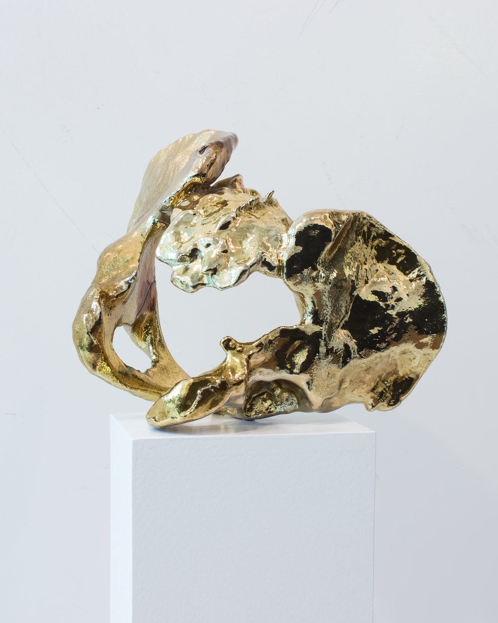 Carol Peligian,  Lucy , 2014, 18k gold over urethane, 10 x 8 x 8 inches
