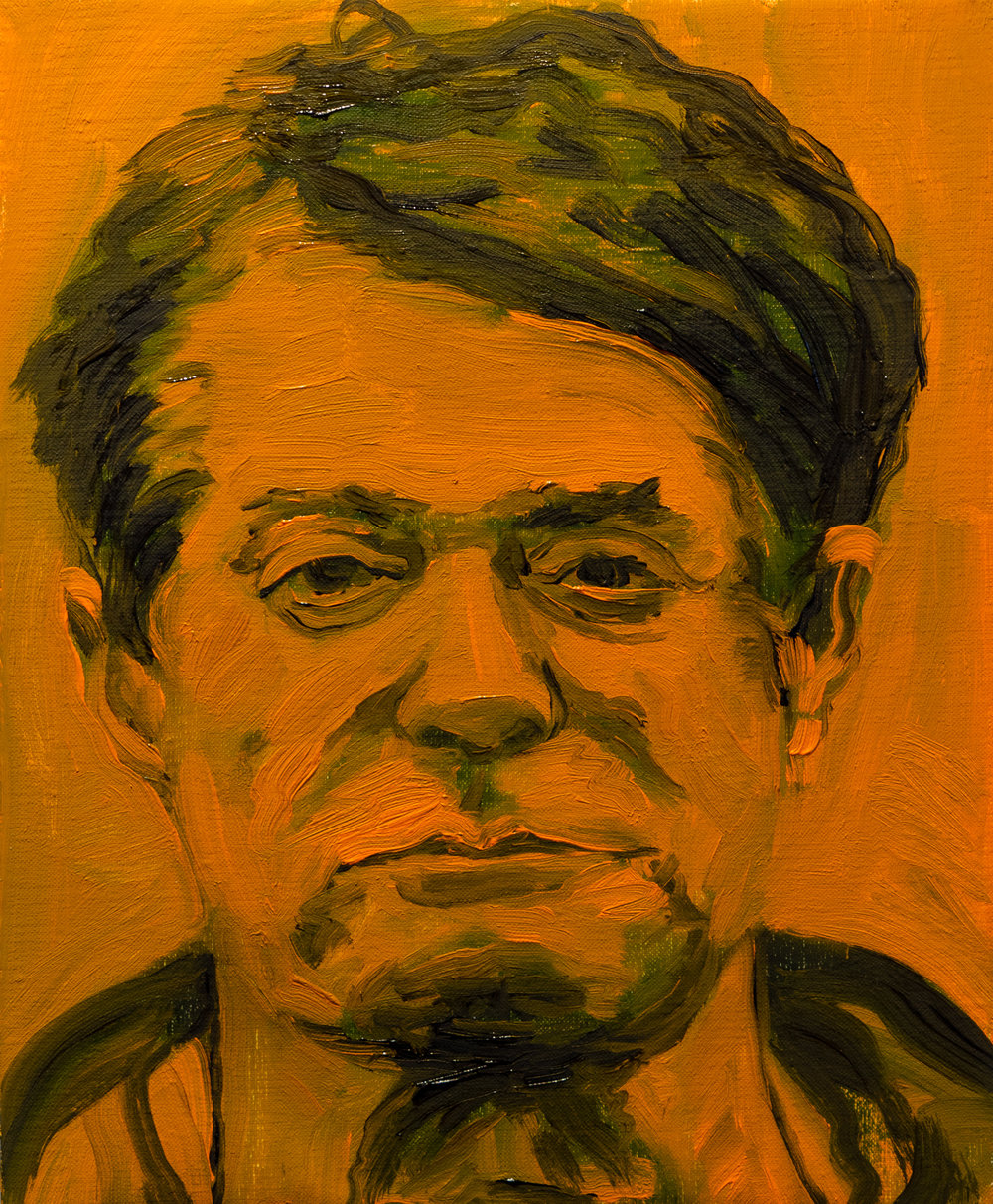 Billy Jacobs,  Treason (Manafort) , 2018, oil on linen, 10 x 8 inches