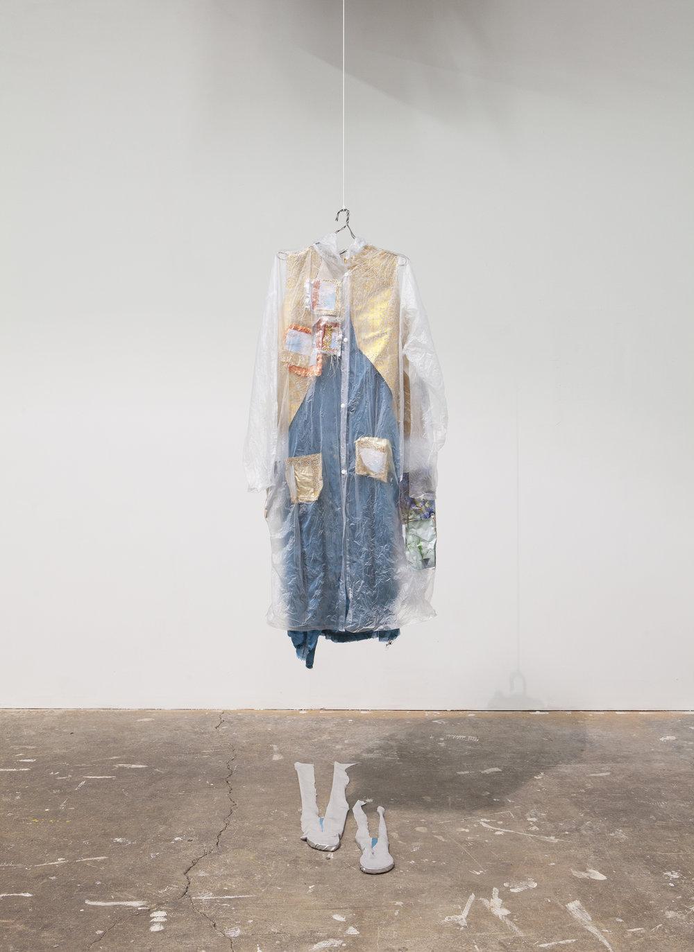 Sofia Paris   Ghost 2,  2019 Mixed media 48 x 22 inches 121.9 x 55.9 cm