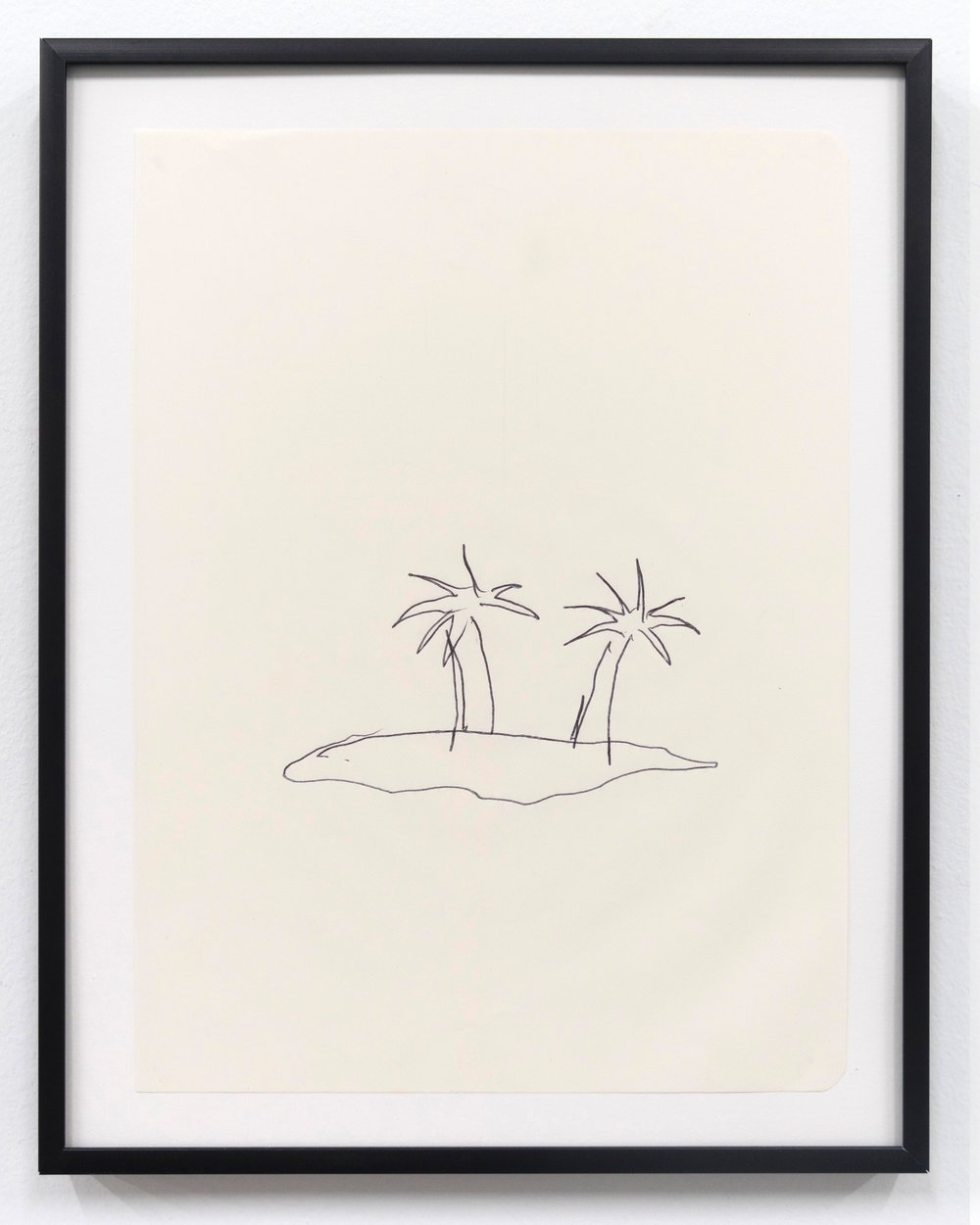 Emilie Gossiaux    The Beach , 2018 Ink on newsprint   11 1/2 x 9 1/8 inches 29.2 x 23.2 cm