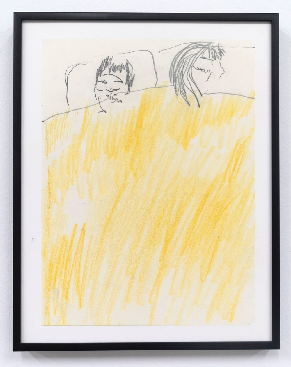 Emilie Gossiaux    Sleeping , 2018 Ink on newsprint   11 1/2 x 9 1/8 inches 29.2 x 23.2 cm