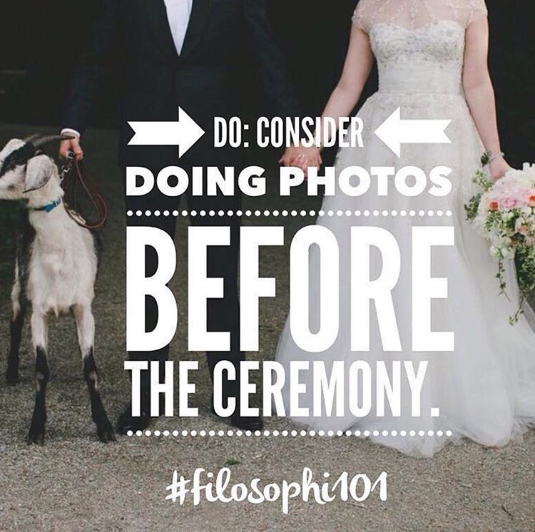 Follow us on instagram - for more insider tricks to planning the best day ever.#filosophi101