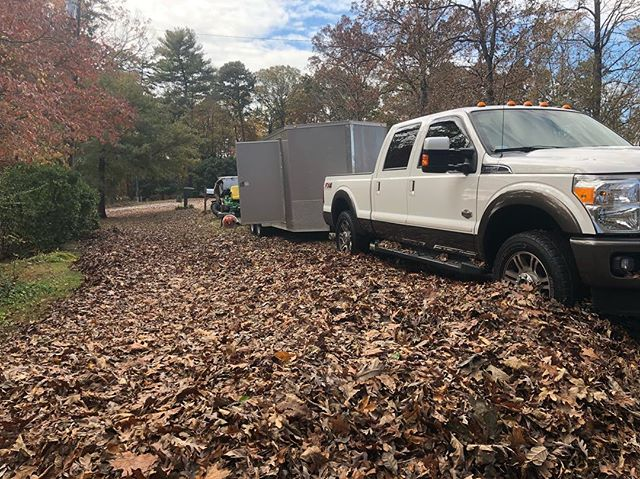 Leaf Removal with a lake view! November 20, 2018