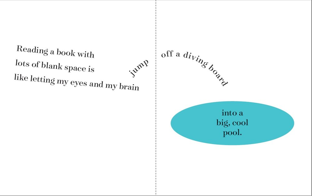Concrete poetry - helps convey meaning for striving readers.