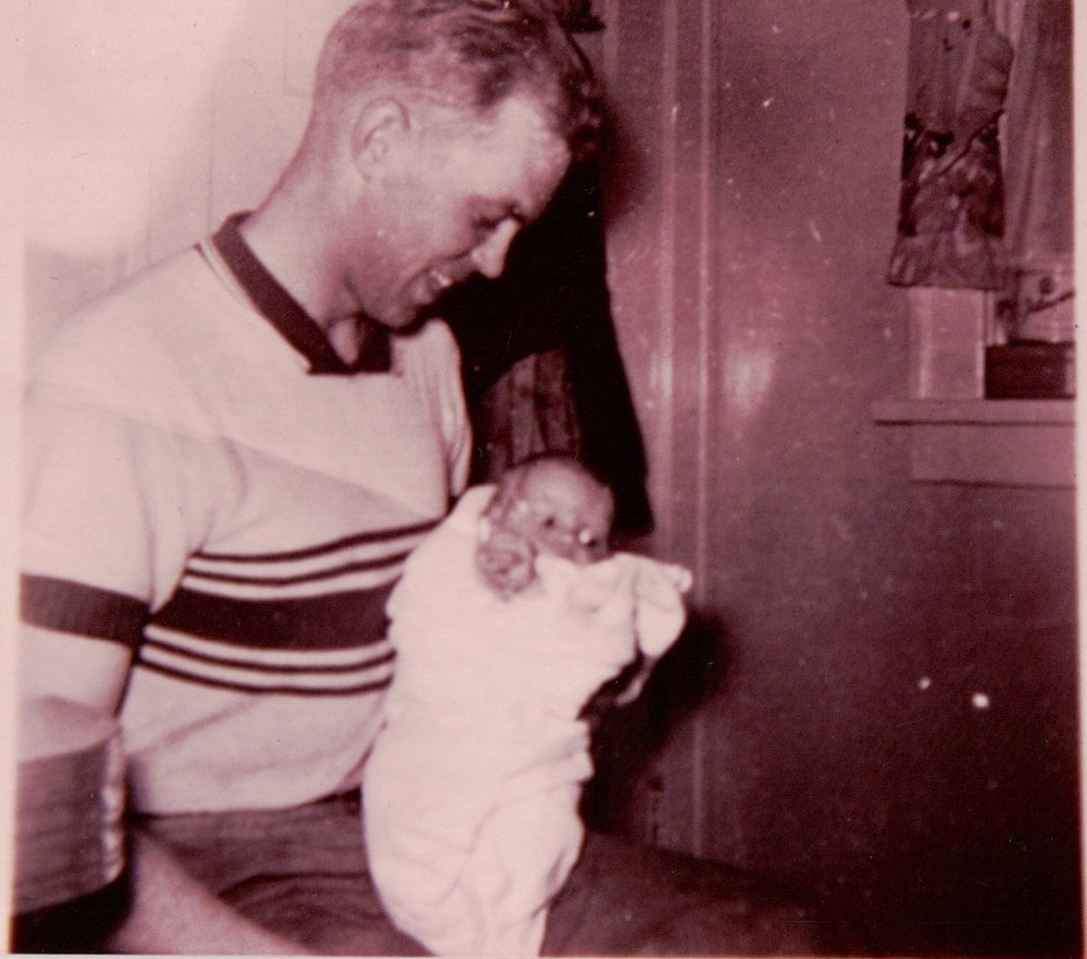 One of the first pictures of Dad and I.